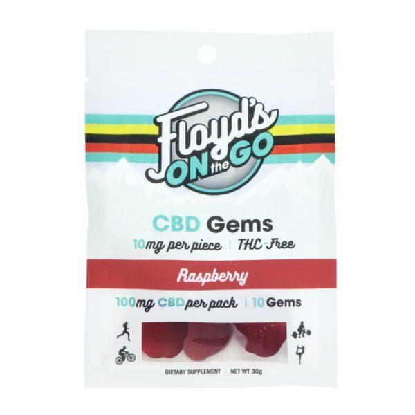CBD Gummies Raspberry 10 Count Pack