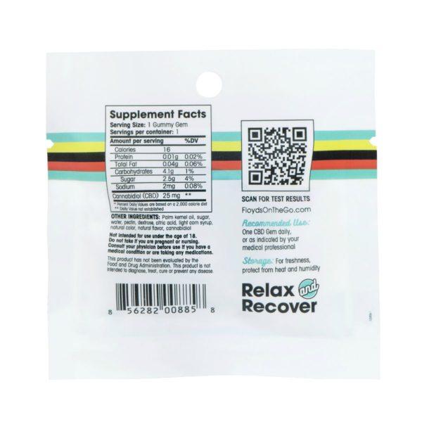 CBD Gummies 1 Count Pack Ingredients